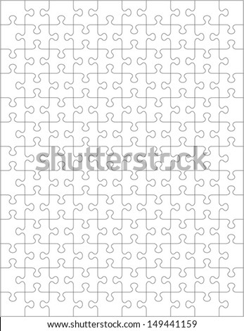 jigsaw puzzle blank template cutting guidelines のベクター画像素材