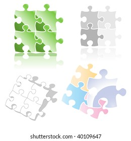 jigsaw puzzle icon / design element