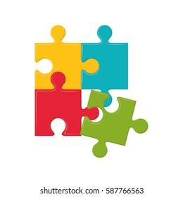 Jigsaw puzzle piece icon vector illustration graphic design