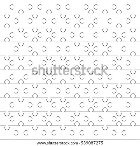 jigsaw puzzle template 10 x 10 stock vector royalty free 539087275