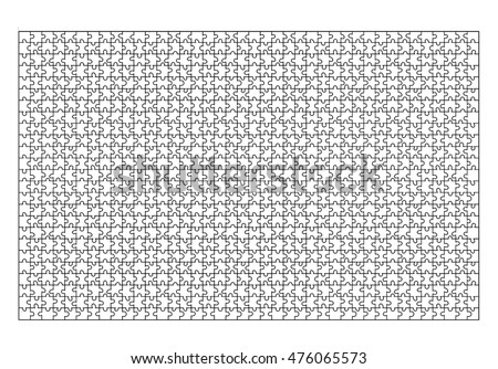 Jigsaw Puzzle Template 1000 Pieces Vector Image Vectorielle De Stock