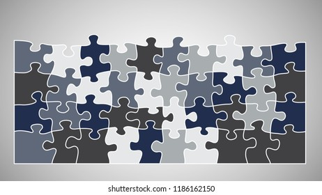 Jigsaw puzzle vector background.
