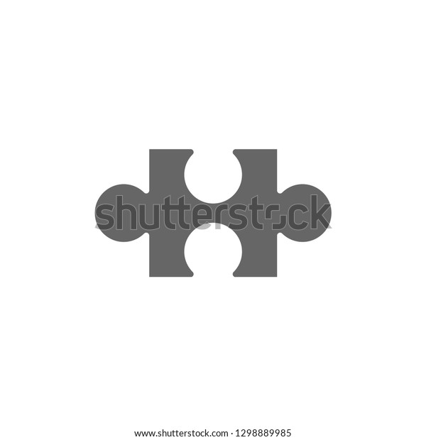 Jigsaw Puzzles Autism Puzzle Piece Symbol Stock Vector