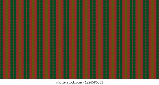 Jigsaw vertical stripes pattern vector. Graphic design gold and green on red background. Design print for textile, wallpaper, background, paper. Set 5