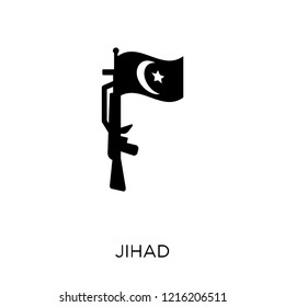 jihad icon. jihad symbol design from Religion collection. Simple element vector illustration on white background.