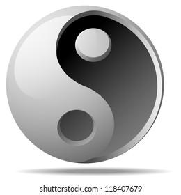 jing jang sign vector illustration