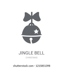 Jingle bell icon. Trendy Jingle bell logo concept on white background from Christmas collection. Suitable for use on web apps, mobile apps and print media.