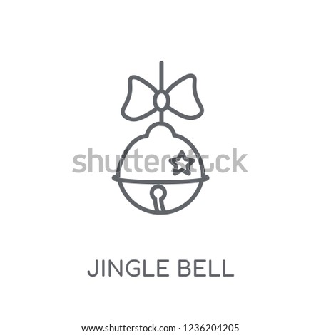 64c2dd5f077cb Jingle bell linear icon. Modern outline Jingle bell logo concept on white  background from Christmas