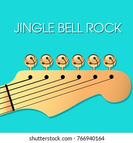jingle bell rock christmas background with bells for print or web