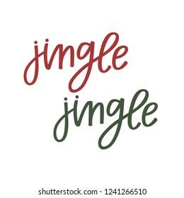 Jingle Jingle hand lettering