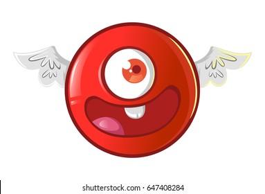 Jio Emoji Happy. vector Illustration. Isolated on white background.