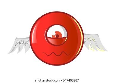 Jio Emoji Sad. vector Illustration. Isolated on white background.