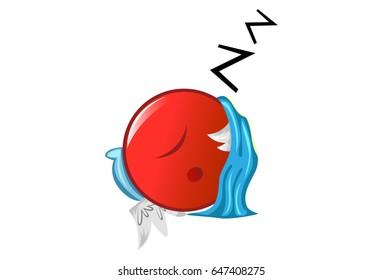Jio Emoji Sleeping. vector Illustration. Isolated on white background.