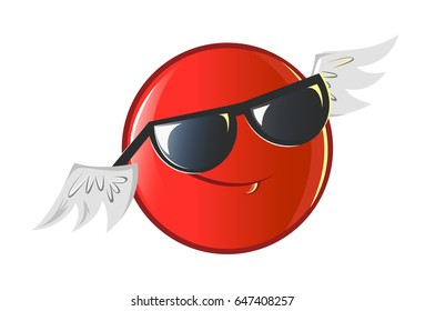 Jio Emoji with Sunglasses. vector Illustration. Isolated on white background.