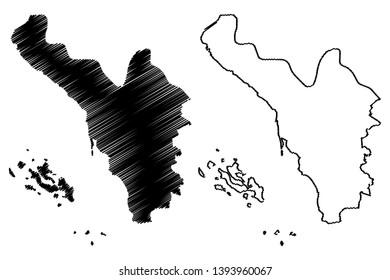 Jizan Region (Regions of Saudi Arabia, Kingdom of Saudi Arabia, KSA) map vector illustration, scribble sketch Jizan map