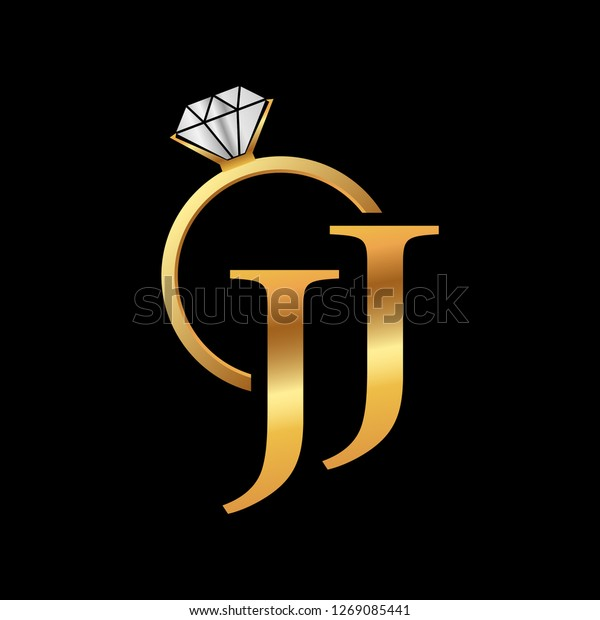 jj golden ring logo design stock vector royalty free 1269085441 https www shutterstock com image vector jj golden ring logo design 1269085441