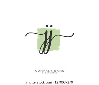 JJ Initial handwriting logo vector