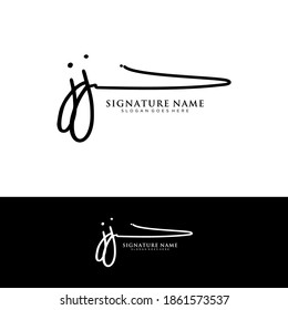 JJ Initial letter handwriting and signature logo.
