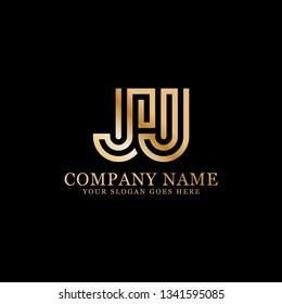 JJ initial Letter logo, logo monogram, clean and modern design