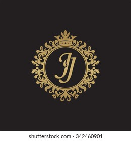JJ initial luxury ornament monogram logo
