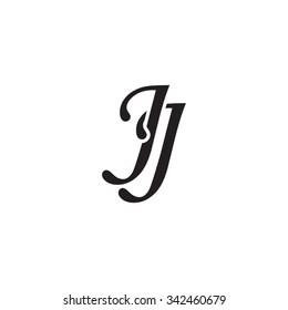 JJ initial monogram logo