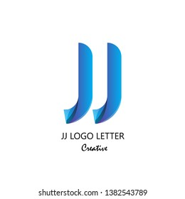 jj j circle lowercase design of alphabet letter combination with infinity suitable as logo for a company or corporate business template design - Vector