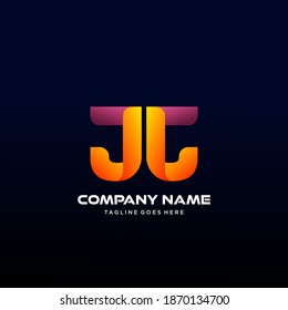 JJ Letter initial Logo Vector With colorful, logo for media business