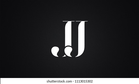JJ Letter Logo Design Template Vector