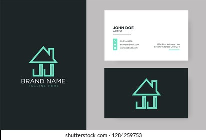 JJ Letter Real Estate Logo Design - Real estate logo.