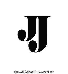jj letter vector logo
