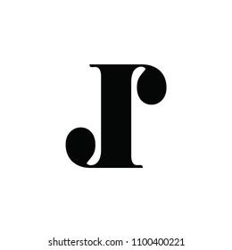 jj letter vector logo. jr letter vector logo