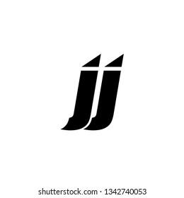 JJ TRIANGLE LETTER LOGO