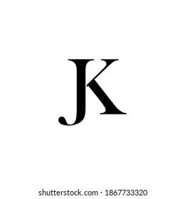 JK abstract vector logo monogram template