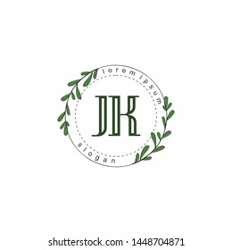 JK Initial beauty floral logo template