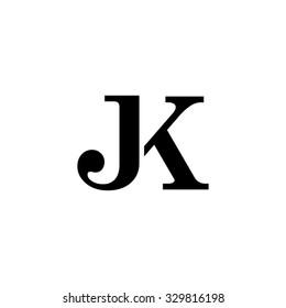 JK initial monogram logo