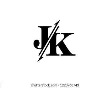 JK initials logo sliced