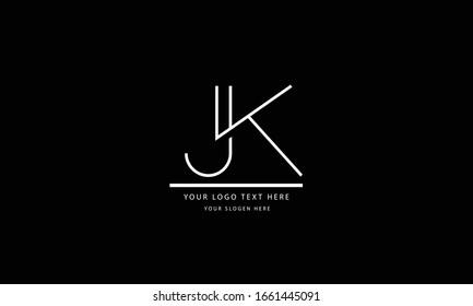 JK KJ abstract vector logo monogram template