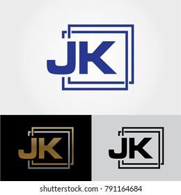 JK Letter Design - Initials Logo - Professional Logo Design