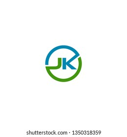 JK Letter Logo concept. Creative Minimal emblem design template. Universal elegant icon