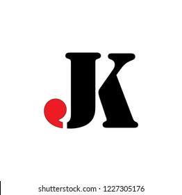 jk letter vector logo