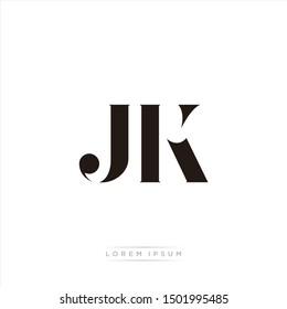 JK logo monogram isolated on white background