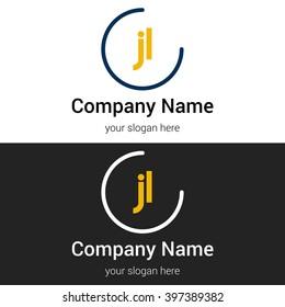 JL business logo icon design template elements. Vector color sign.