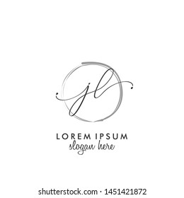 JL Initial beauty monogram logo vector