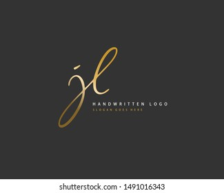 JL Initial handwriting or handwritten logo for identity. Logo with hand drawn style.