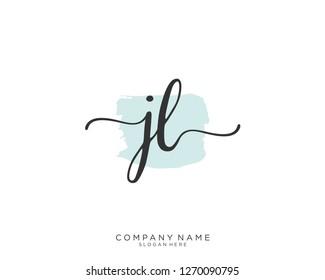 JL Initial handwriting logo vector
