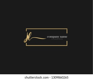 JL Initial handwriting logo vector. Hand lettering for designs.