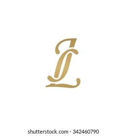 JL initial monogram logo