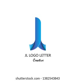 jl j l circle lowercase design of alphabet letter combination with infinity suitable as logo for a company or corporate business template design - Vector