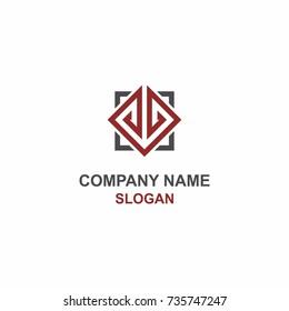 JL letter initial logo.