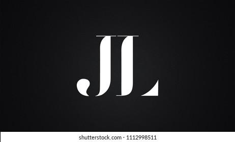 JL Letter Logo Design Template Vector